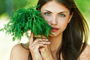 girl with dill